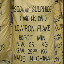 Used in Mining and Leather Yellow Flakes Sodium Sulphide 60%