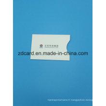 Papier en aluminium Papier Support de carte à baguette RFID
