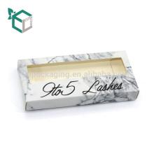 Custom Art Paper Fancy Paper Eyelashes Cardboard Packaging Box with Inner Tray