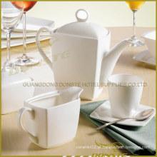 Jantar de porcelana branca com 9 PCS