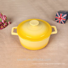 enamelware enamelcasserole small pot milk pot