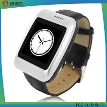 S13 Bluetooth Smartwatch com pedômetro de pulseira de couro compatível com IOS