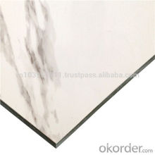Alucobond Aluminum composite panel white mable design for wall