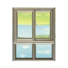 Fenêtre à guillotine latérale en aluminium d'ouverture d'alliage d'aluminium