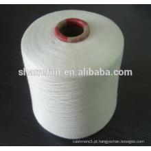 90% Modal / 10% máquina de caxemira tricô blenda fio cru branco