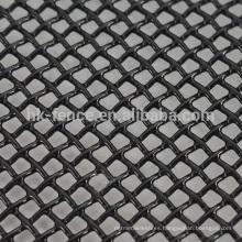 Pantalla negra de la ventana / de la puerta de la malla de alambre del acero inoxidable 316 de la visión revestida del polvo negro para AU (precio de fábrica)