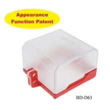OEM & CE Abschließbare Sockelabdeckungen Sicherheitsverriegelung & Tagout für Wandschalter Knopf Sockel BD-D63