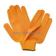 Gants en coton tricoté Gants en PVC Criscross Gant de travail de sécurité industrielle