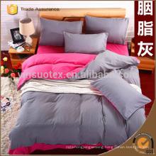 Pure color home textile Fashion colour duvet/comforter cover queen king size 4pcs bedding set cotton bed linen for Guest room