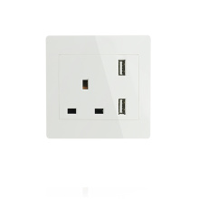Single UK USB Wall Socket