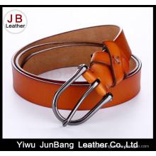 Fivela de costura de cintura de couro elegante à mão para mulheres