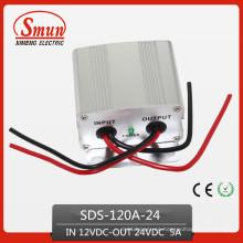 Convertidor de potencia de 120W 12VDC-24VDC 5A Step Up Transformer