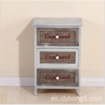 New design classic 3 drawers wood cabinet