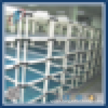 Carton flow pipe rack with wheels