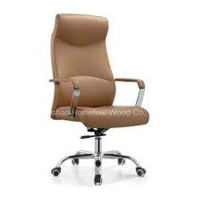 Chaise de patron en cuir artificiel moderne pivotante (HF-A392)
