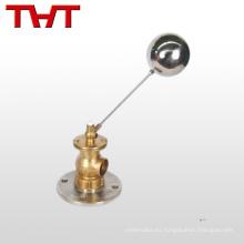 válvula de latón de bola flotante de nuevo diseño brida para tanque de agua