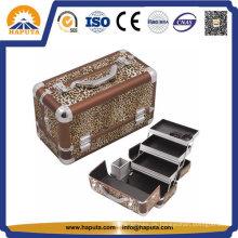Moderner Leopard-tragender kosmetischer Kasten (HB-2031)