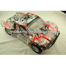 Printed SC truck body orange,1/10th scale rc rally car orange body, 4wd gas& electric rc rally's body shell