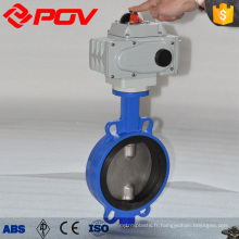 Explosion-proof Double flange Electric Butterfly Valves ac380v china manufacturer