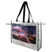 Werbe-Custom bedruckt PP Kunststoff gewebt Einkaufstasche