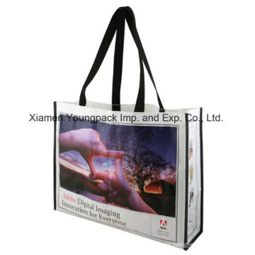 Promocional personalizado impreso PP bolsa de tejido de tejido