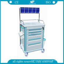 AG-AT005B1 infirmière utilisé hôpital mobile thérapie patient chariot d'anesthésie