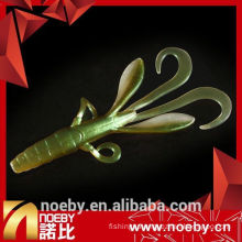 double color artificial soft fishing lure minnow lure