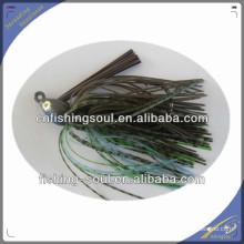 RJL005 borracha plástico madai gabarito iscas verticais gabaritos saias isca de pesca