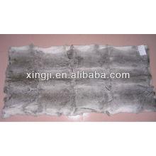 Natural grey colro chinchilla rabbit fur throw wholesale
