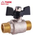 External thread Nickel plating brass ball valve