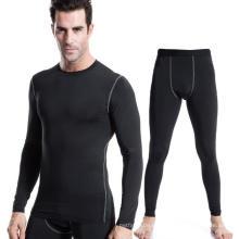 Camiseta de entrenamiento y entrenamiento deportivo para hombres + Pantalones de polainas con traje deportivo