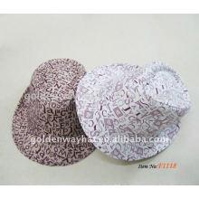 Mode gedruckt Baumwolle Fedora Hut