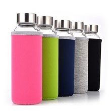 Creative and innovative unbreakable Borosilicate Glass Drinking Bottle&mug with cotton cover
