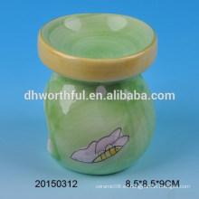Quemador de aceite de la fragancia de cerámica de la decoración casera, quemador de incienso de cerámica