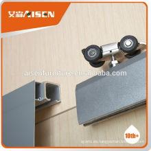Muestra de fábrica disponible directamente ruedas para puertas de aluminio
