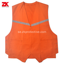 Shot sleeve Cotton reflective vest med speciell design
