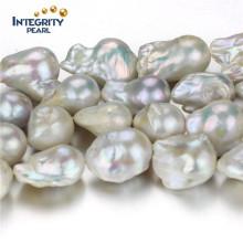 Нерегулярная прямая жемчужная нить 15-16мм AA- Зародышевая пресноводная жемчужная нить оптом