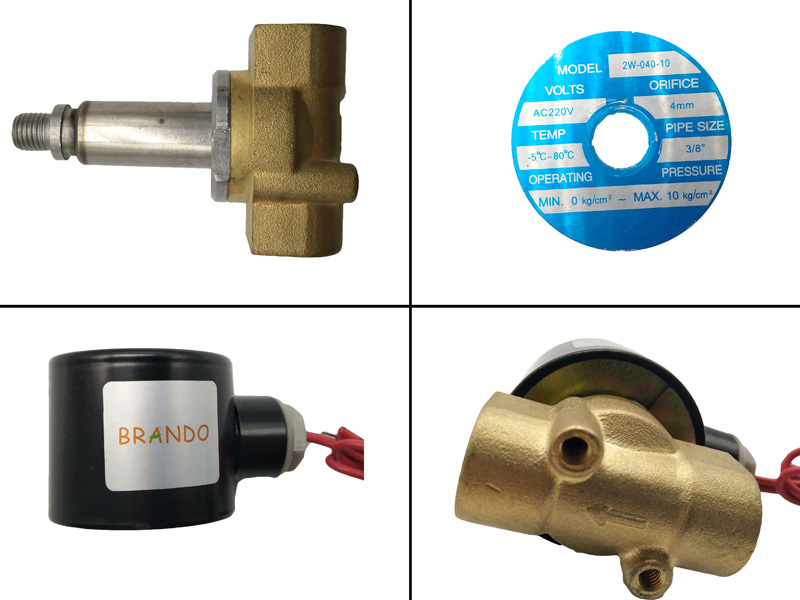 Details enlargements of 2W040-10 of G3/8'' Normally Closed Solenoid Valve