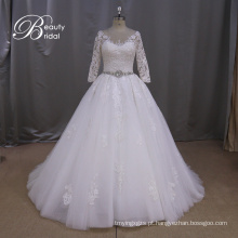 Vestido de noiva Appliqued-line preço razoável
