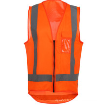 Nouveau design gilet de sécurité haute visibilité avec poche poitrine
