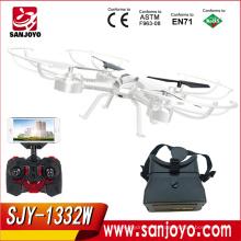 Nuevos juguetes Soporte VR Gafas RC Quadcopter SKY PHANTOM 1332 UFO Wifi FPV 0.3MP Cámara rc Drone SJY-1332W