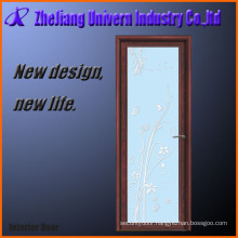 Glass Internal Swing Bathroom Door