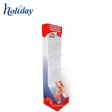 Armazene o suporte de exposição do roupa interior do assoalho do cartão da cremalheira do roupa interior de varejo