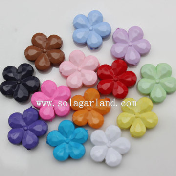 Random Mixed Color Plum Blossom Acrylic Flower Beads Patterns