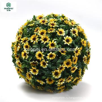 Различные цвета искусственный висячие цветок мяч для сад декор
