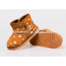 Crianças botas de inverno fivela com ouro estampando estrela inverno neve botas