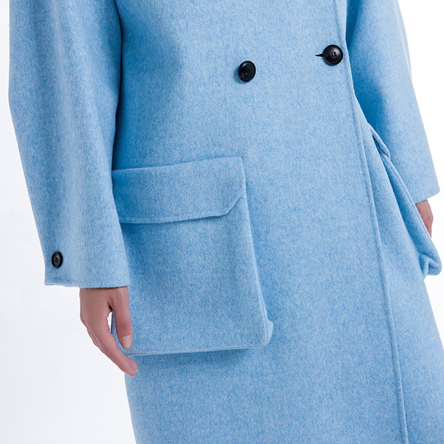 Blue fashion Cashmere coat
