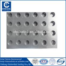 Placa de drenagem plástica de alta resistência à compressão