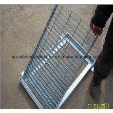 Entwässerung Rinne mit Stahl Gitter Abdeckung