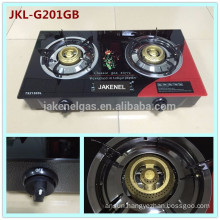 2 burner gas cooker stove tempered glass top
